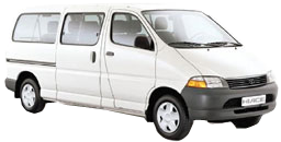 Toyota Hi-Ace or similar (older model)