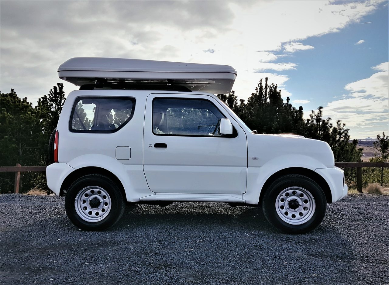 Suzuki Jimny A T Camper Rooftent 4x4 Campers In Iceland