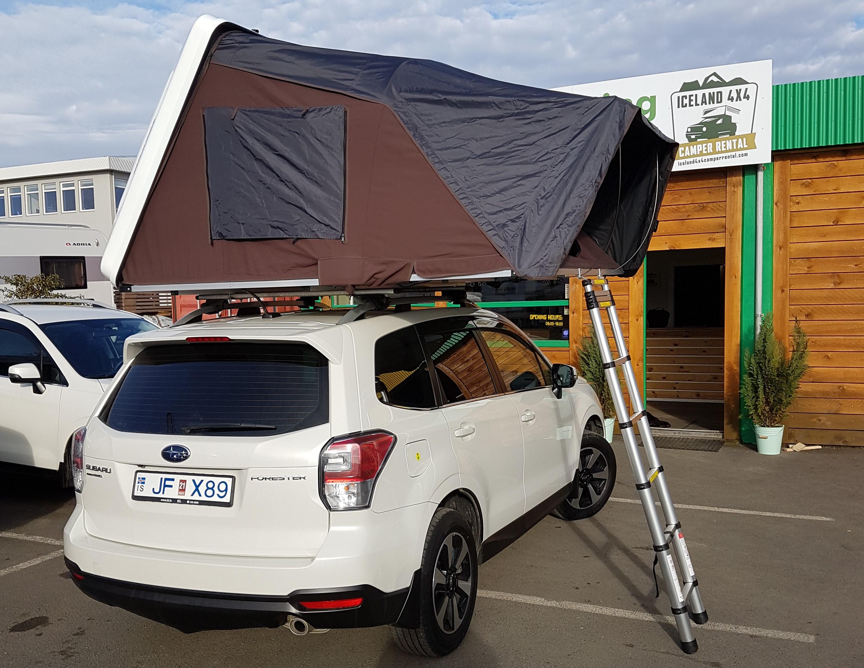 subaru forester roof tent camper