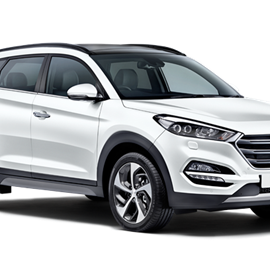 White Hyundai Tucson Car Rental