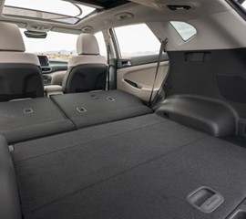 the backseats can fold down in the 2019 hyundai tucson rental providing more room