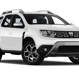 White Dacia Duster Rental Car