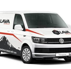 Lava Car Rentals White Camper Van - VW Transporter