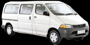 Toyota HI-ACE 8-9 seat Manual (Older model)