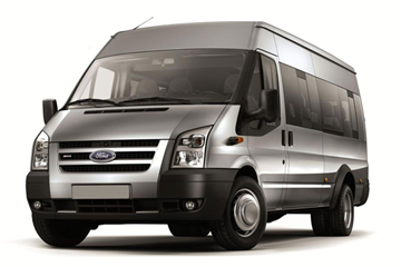 Ford Transit or similar | Manual | 5 doors | 17 people | Unlimited mileage